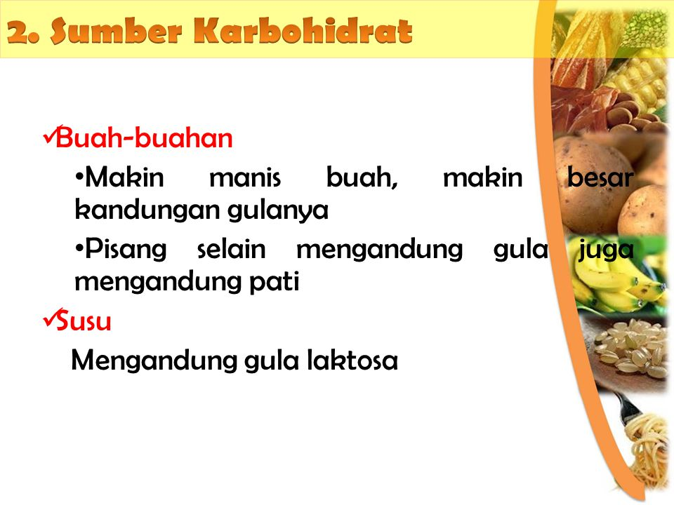 2. Sumber Karbohidrat Buah-buahan