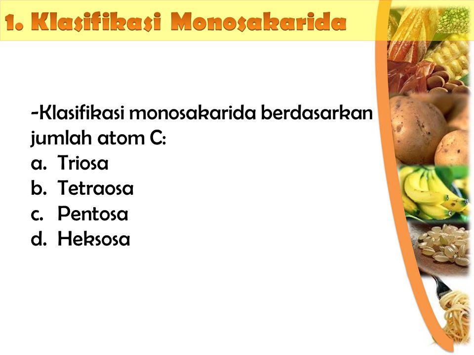 1. Klasifikasi Monosakarida