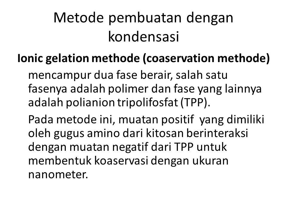 Metode pembuatan dengan kondensasi