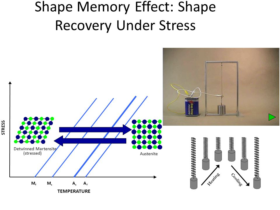Shape Memory Effect: Shape Recovery Under Stress