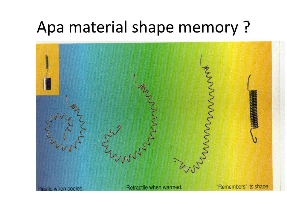 Apa material shape memory