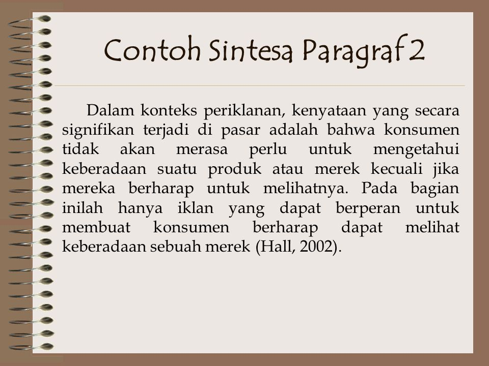 Contoh Sintesa Paragraf 2