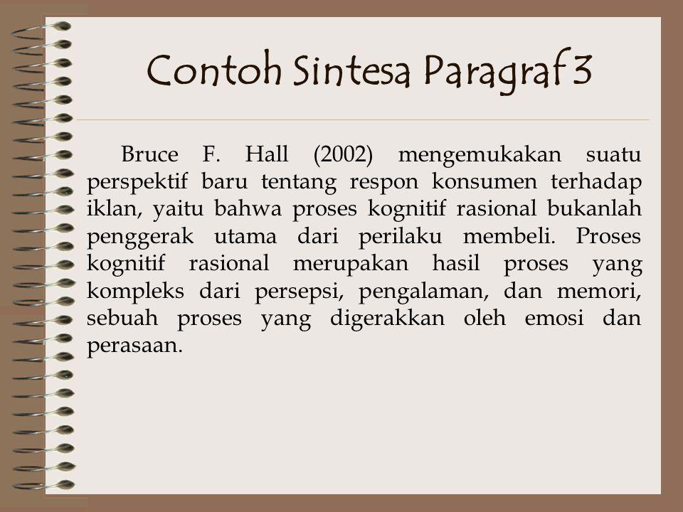 Contoh Sintesa Paragraf 3
