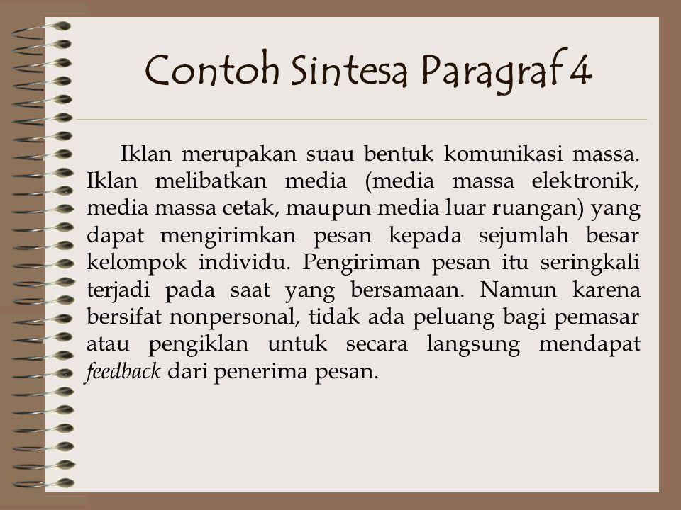 Contoh Sintesa Paragraf 4