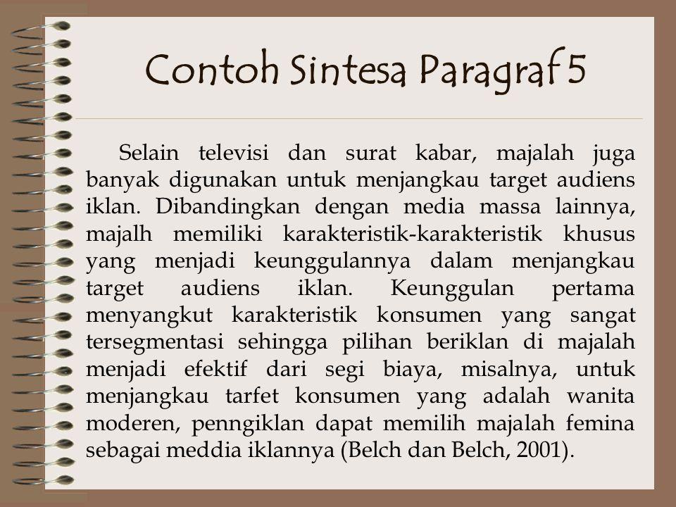 Contoh Sintesa Paragraf 5
