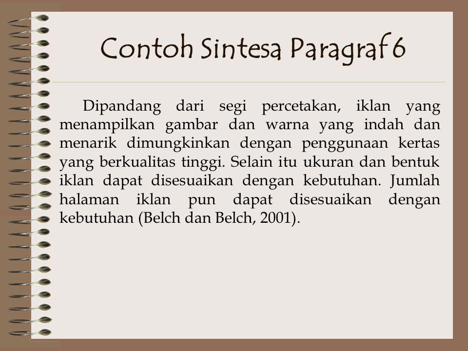 Contoh Sintesa Paragraf 6