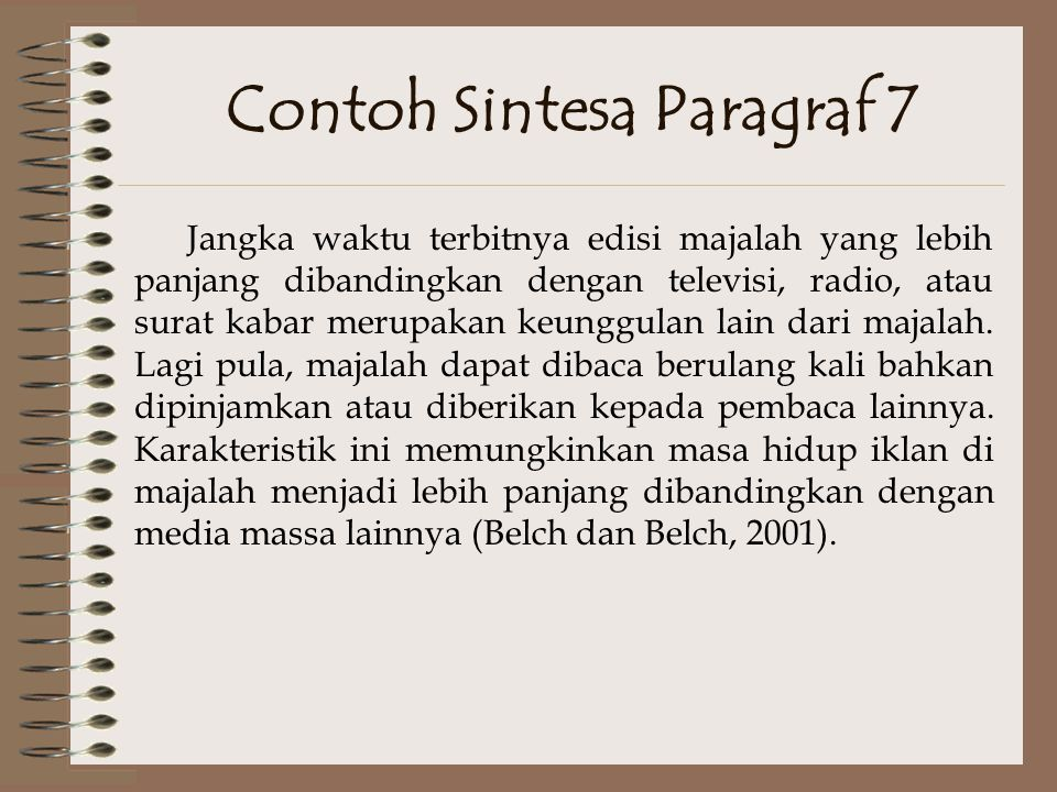 Contoh Sintesa Paragraf 7