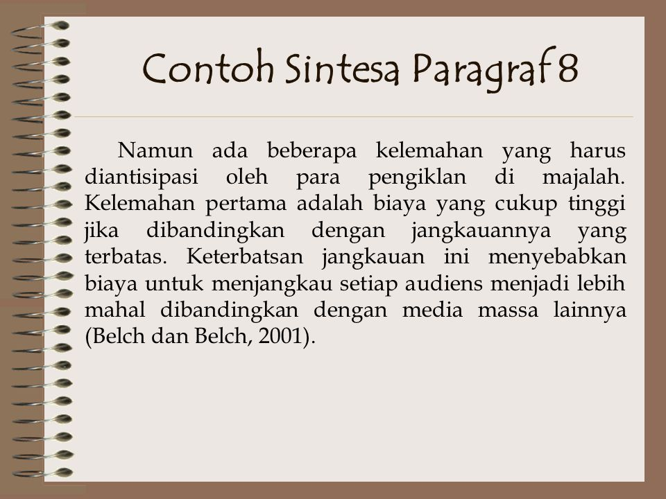 Contoh Sintesa Paragraf 8