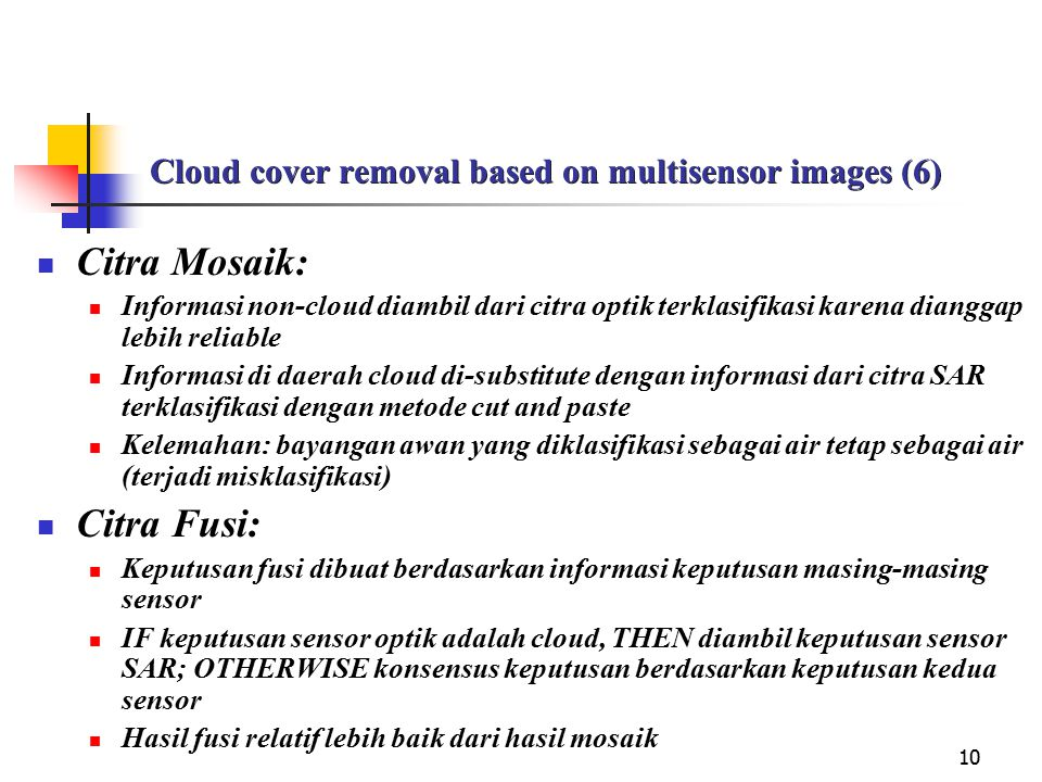 Cloud cover removal based on multisensor images (6)