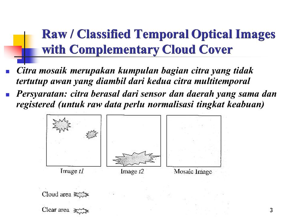 Raw / Classified Temporal Optical Images with Complementary Cloud Cover