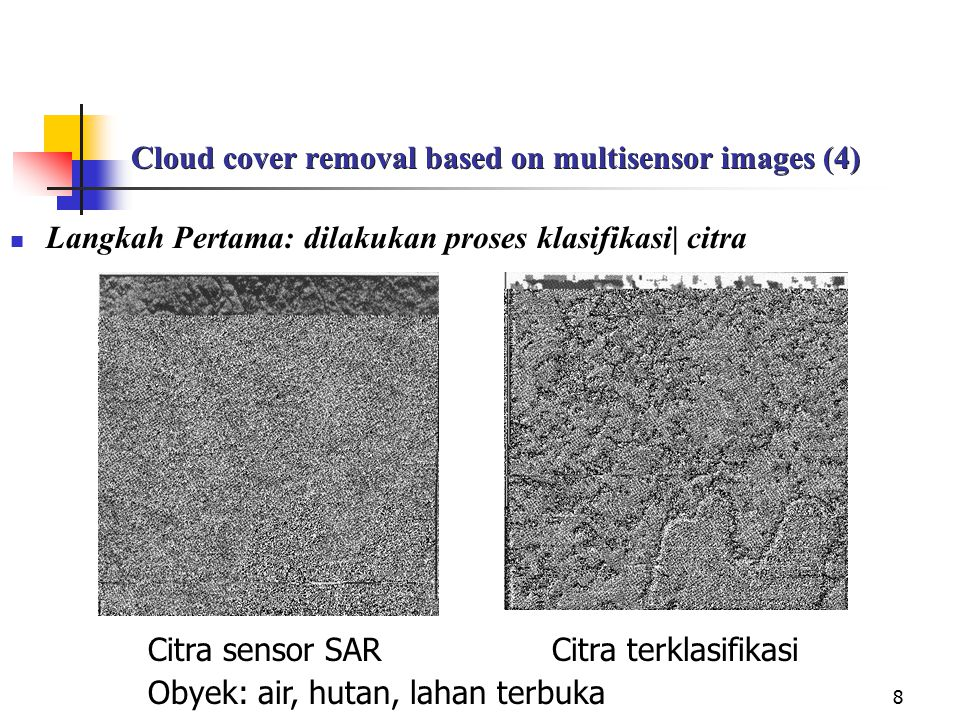 Cloud cover removal based on multisensor images (4)