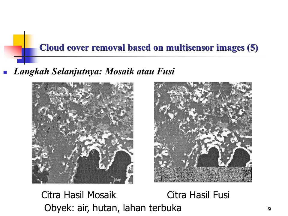 Cloud cover removal based on multisensor images (5)