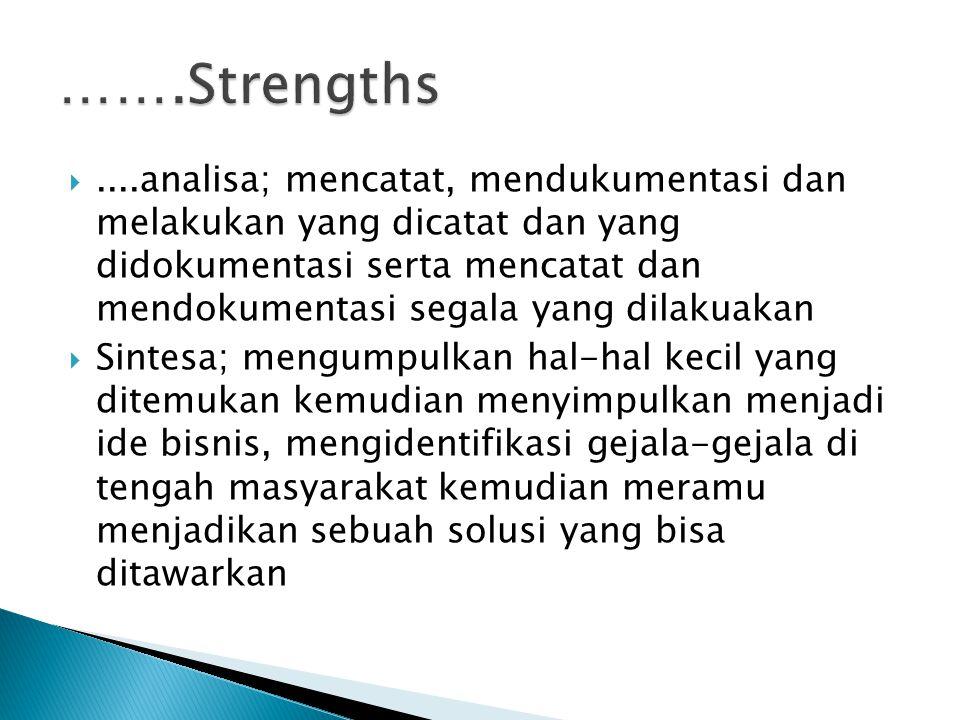…….Strengths