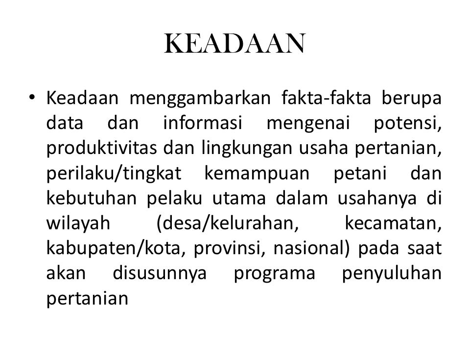 KEADAAN