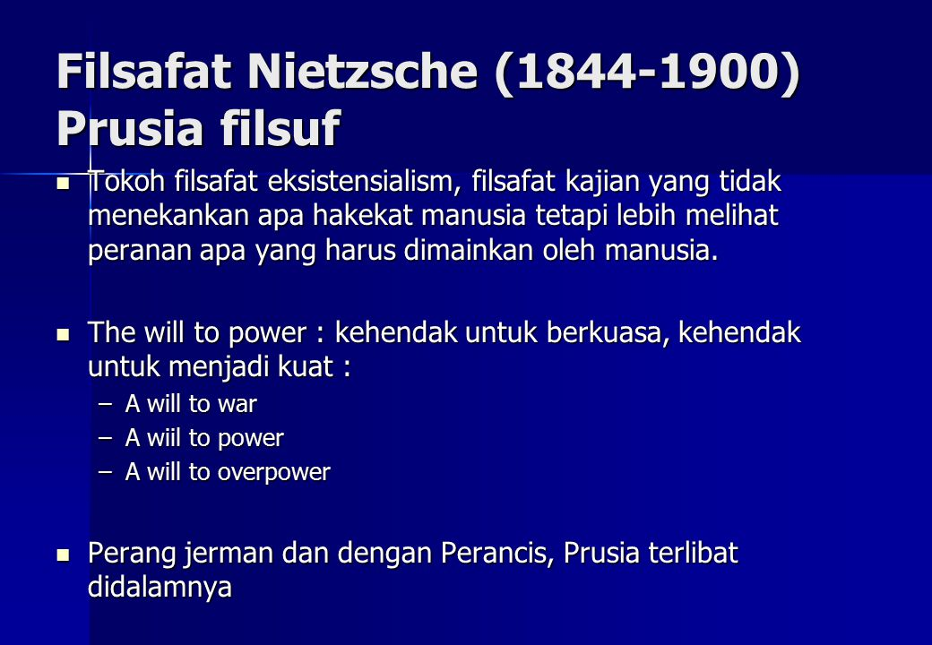 Filsafat Nietzsche (1844-1900) Prusia filsuf