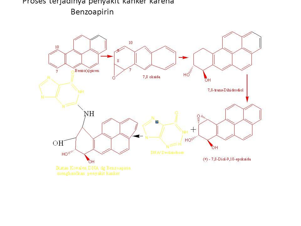 Proses terjadinya penyakit kanker karena Benzoapirin