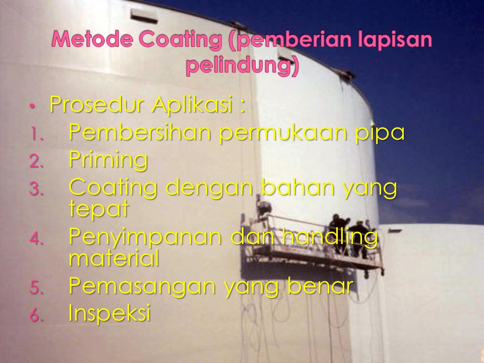 Metode Coating (pemberian lapisan pelindung)