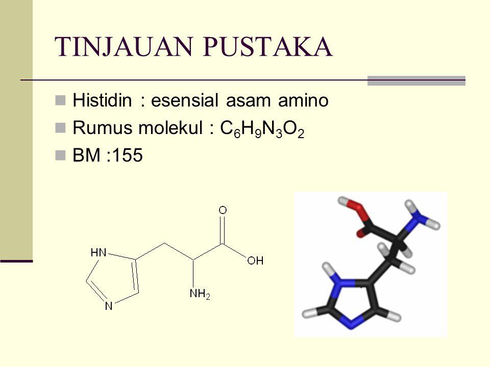 TINJAUAN PUSTAKA Histidin : esensial asam amino