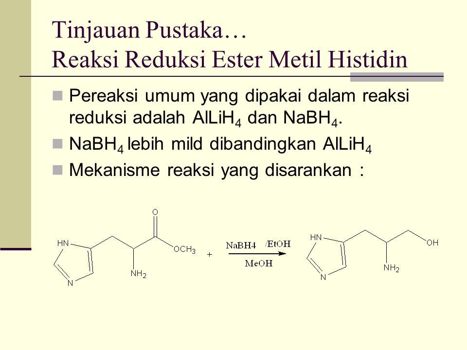 Tinjauan Pustaka… Reaksi Reduksi Ester Metil Histidin