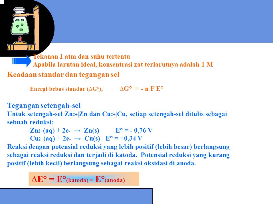 ∆E° = E°(katoda) - E°(anoda)