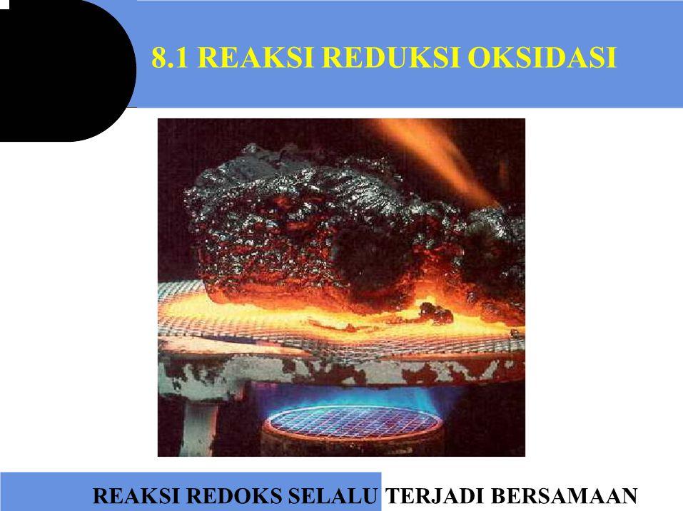 8.1 REAKSI REDUKSI OKSIDASI