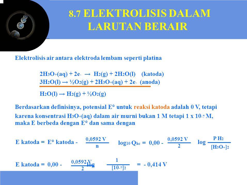 LARUTAN BERAIR 8.7 ELEKTROLISIS DALAM