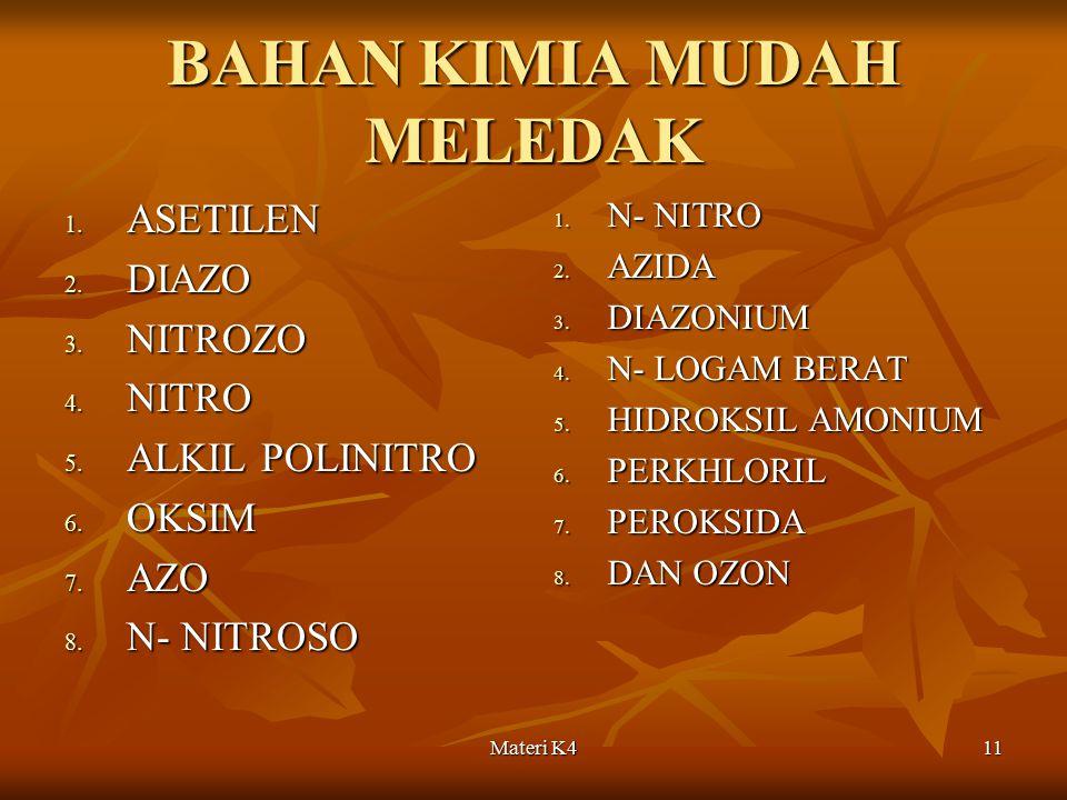 BAHAN KIMIA MUDAH MELEDAK