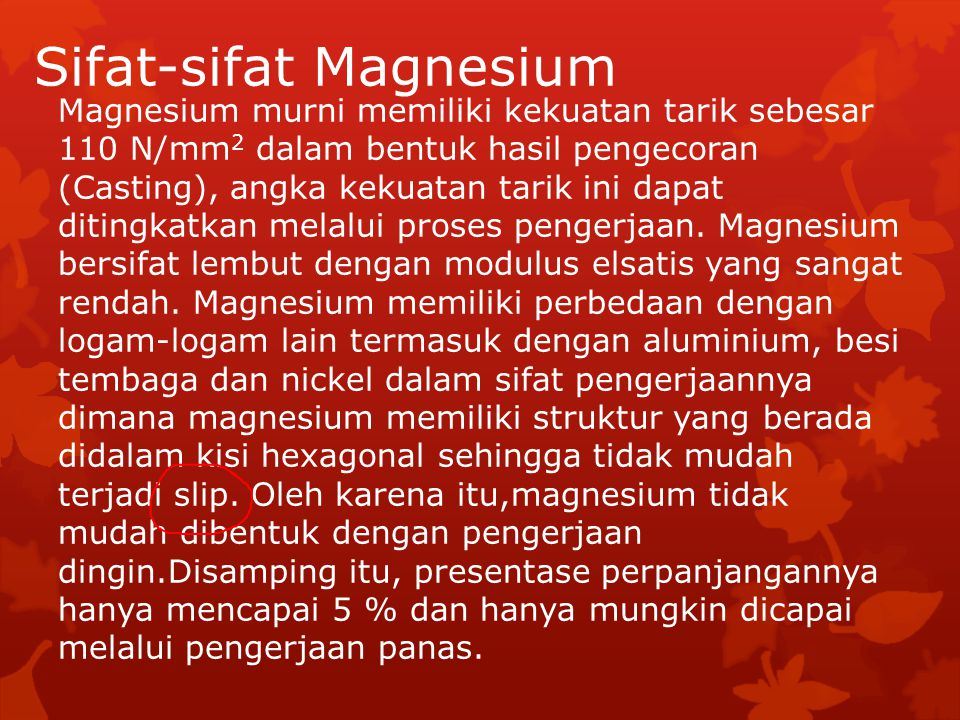 Sifat-sifat Magnesium