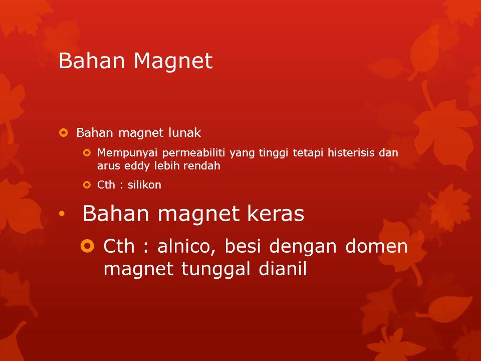 Bahan Magnet Bahan magnet keras