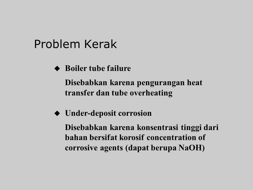 Problem Kerak Boiler tube failure