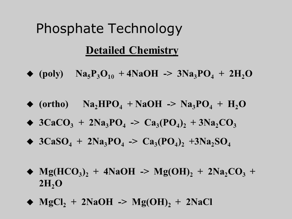 Phosphate Technology Detailed Chemistry