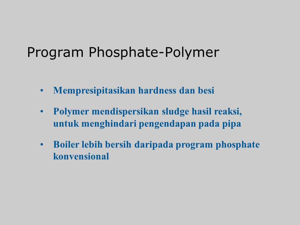Program Phosphate-Polymer
