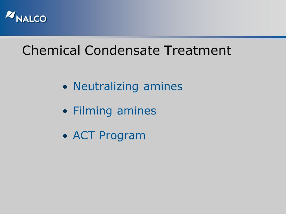 Chemical Condensate Treatment
