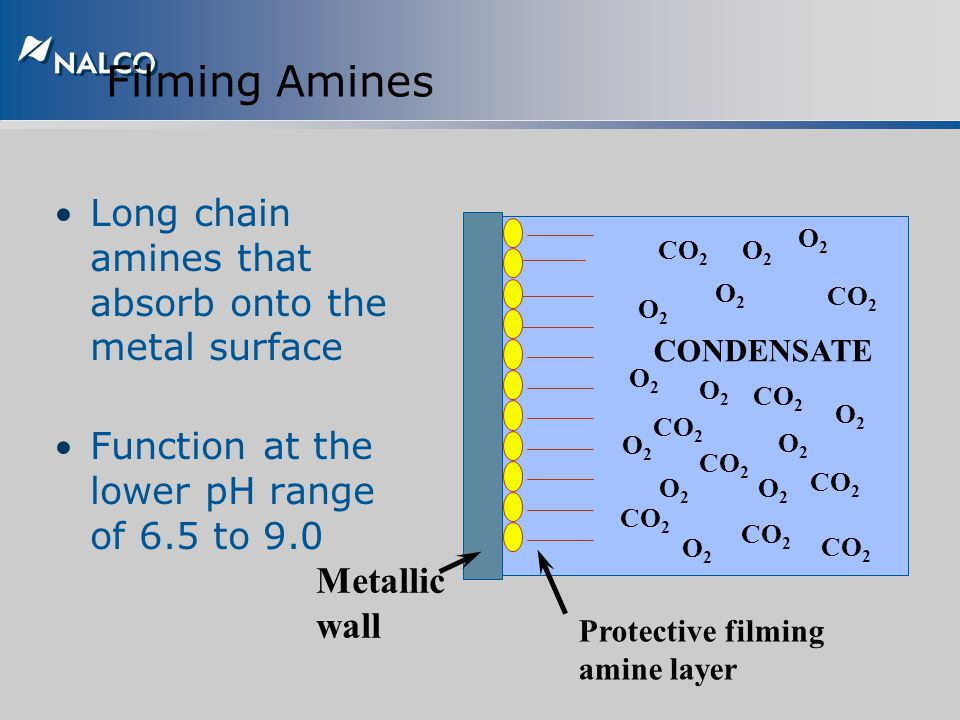 Filming Amines Long chain amines that absorb onto the metal surface