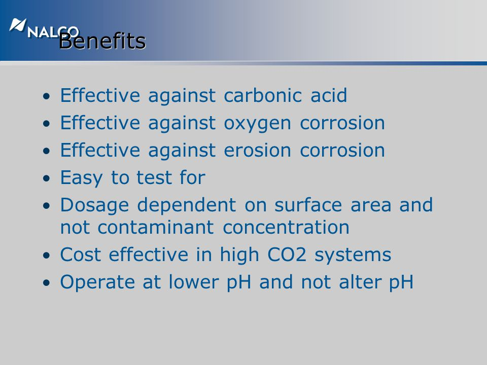 Benefits Effective against carbonic acid