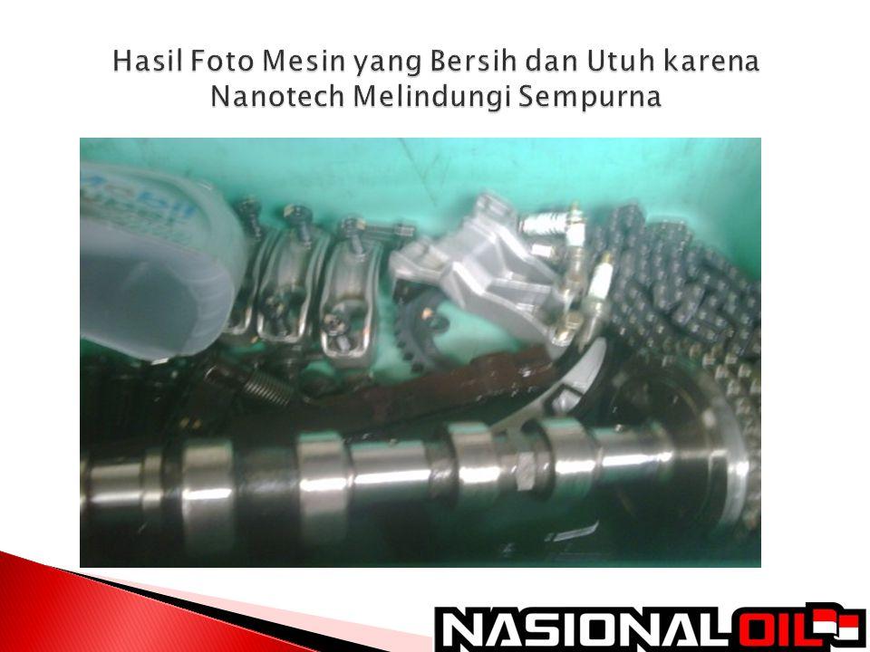 Hasil Foto Mesin yang Bersih dan Utuh karena Nanotech Melindungi Sempurna