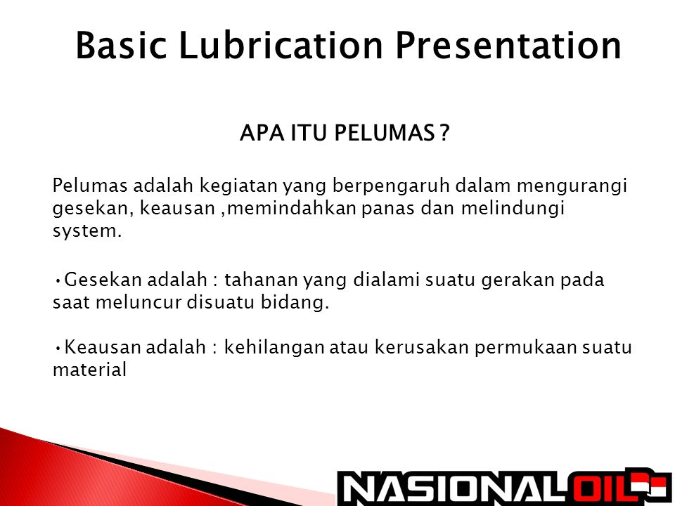 Basic Lubrication Presentation
