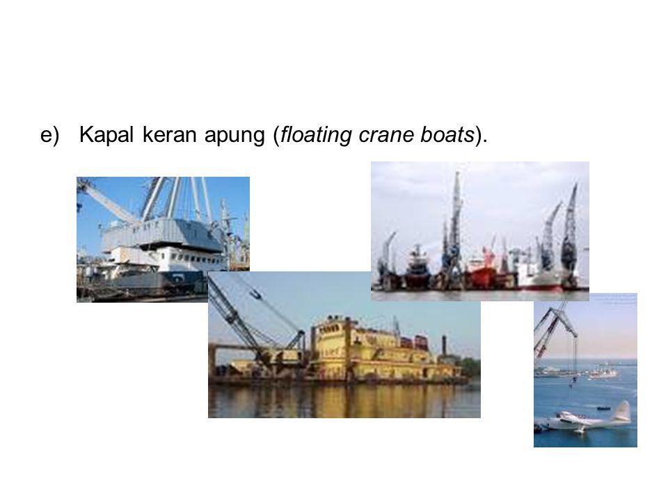 Kapal keran apung (floating crane boats).