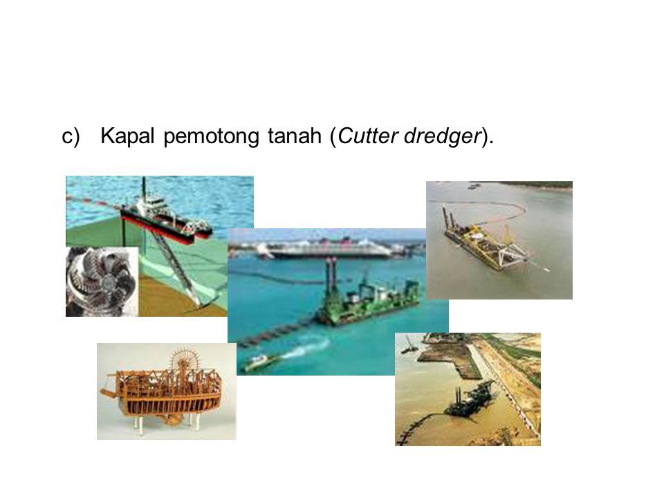Kapal pemotong tanah (Cutter dredger).