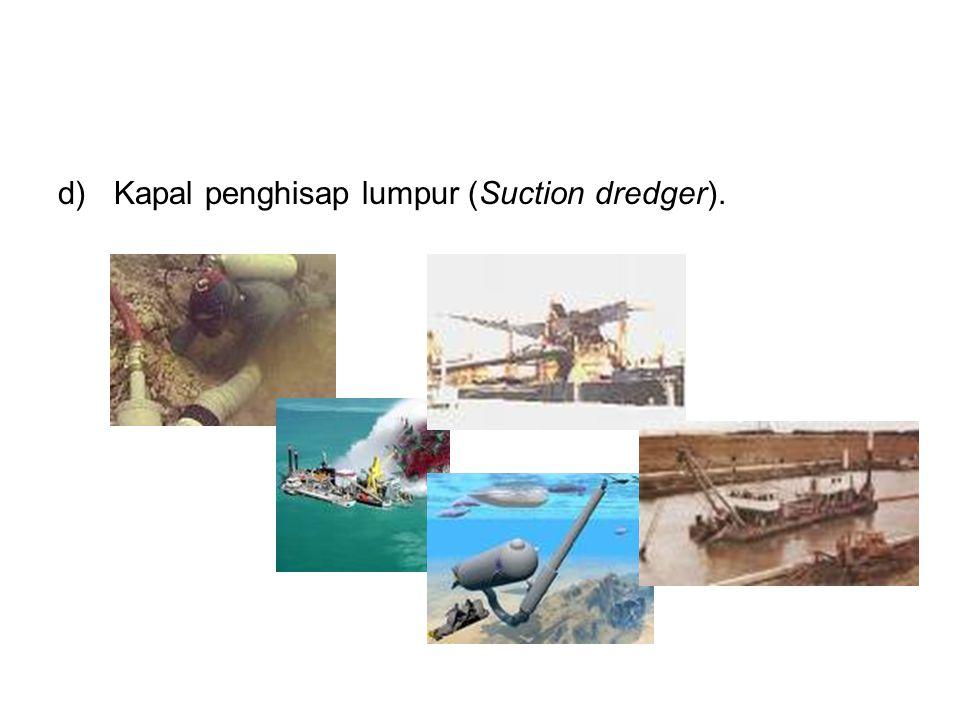 Kapal penghisap lumpur (Suction dredger).