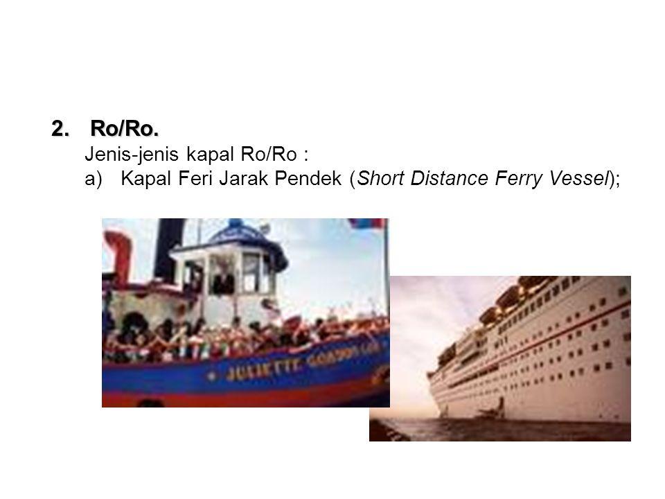 Ro/Ro. Jenis-jenis kapal Ro/Ro :