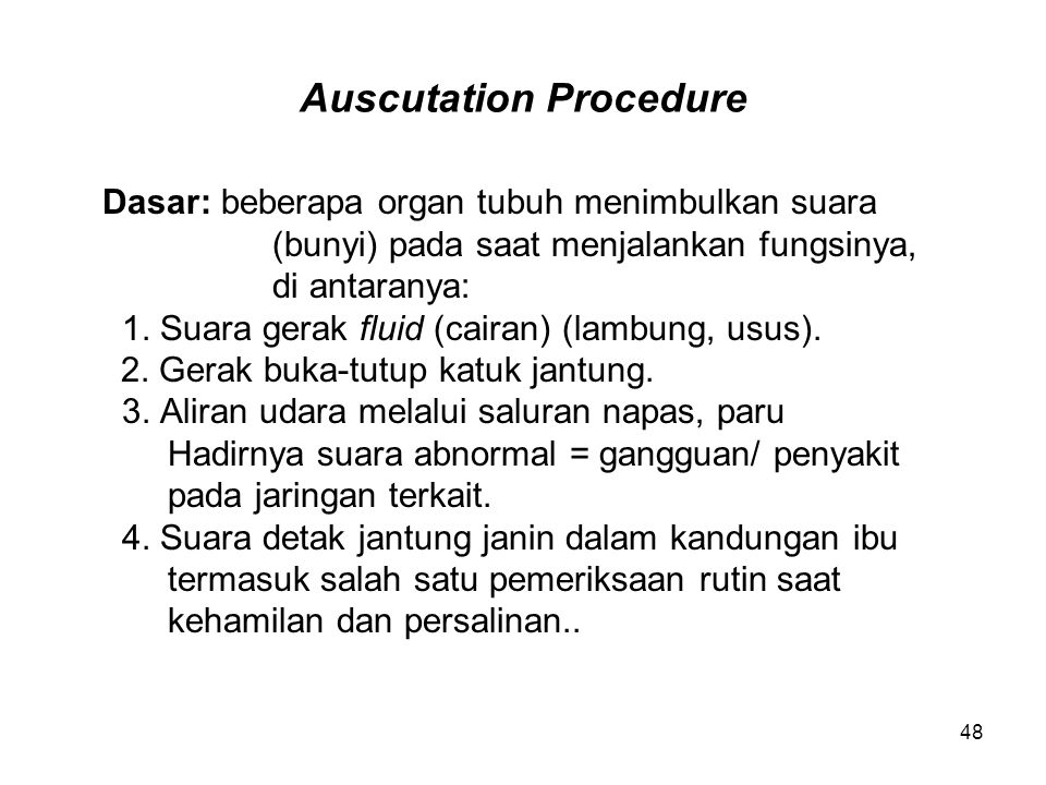 Auscutation Procedure