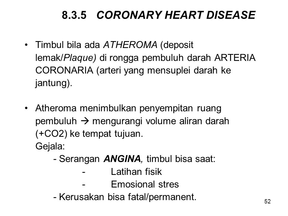 8.3.5 CORONARY HEART DISEASE