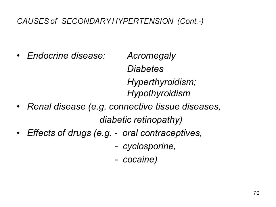 CAUSES of SECONDARY HYPERTENSION (Cont.-)