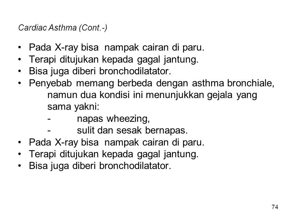Cardiac Asthma (Cont.-)