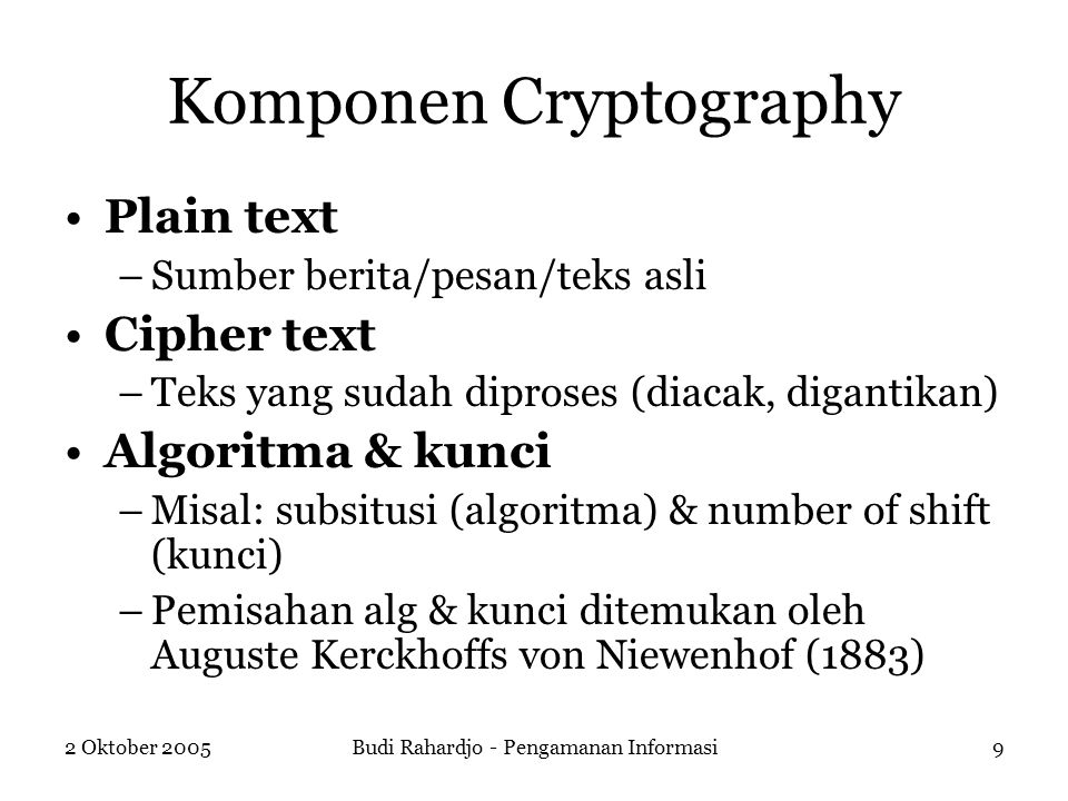 Komponen Cryptography