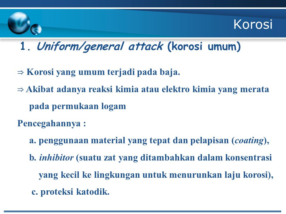 Korosi 1. Uniform/general attack (korosi umum)