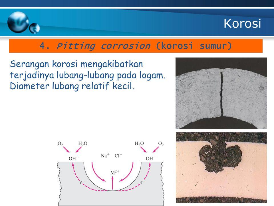 4. Pitting corrosion (korosi sumur)