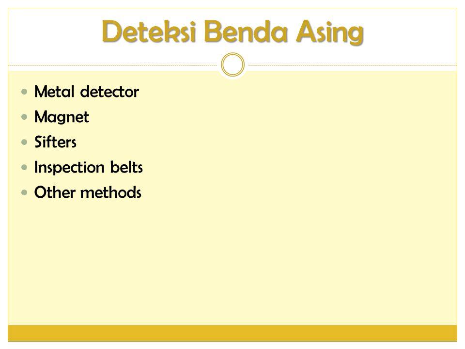 Deteksi Benda Asing Metal detector Magnet Sifters Inspection belts
