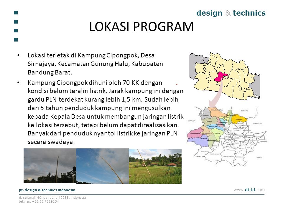 LOKASI PROGRAM design & technics
